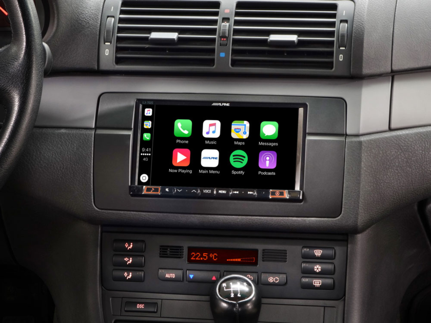 Alpine Style INE-W720E46 ou iLX-702E46, Autoradio GPS écran tactile pour BMW Série 3 E46