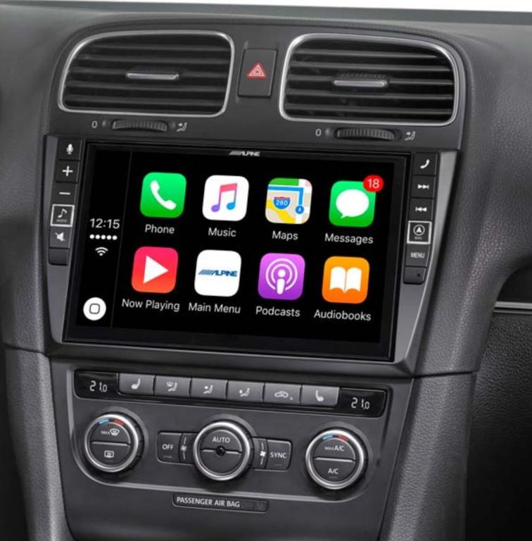 Alpine Style pour Volkswagen Golf 6 - GPS, Apple Carplay et Android Auto - i902D-G6 ou X903D-G6 au choix