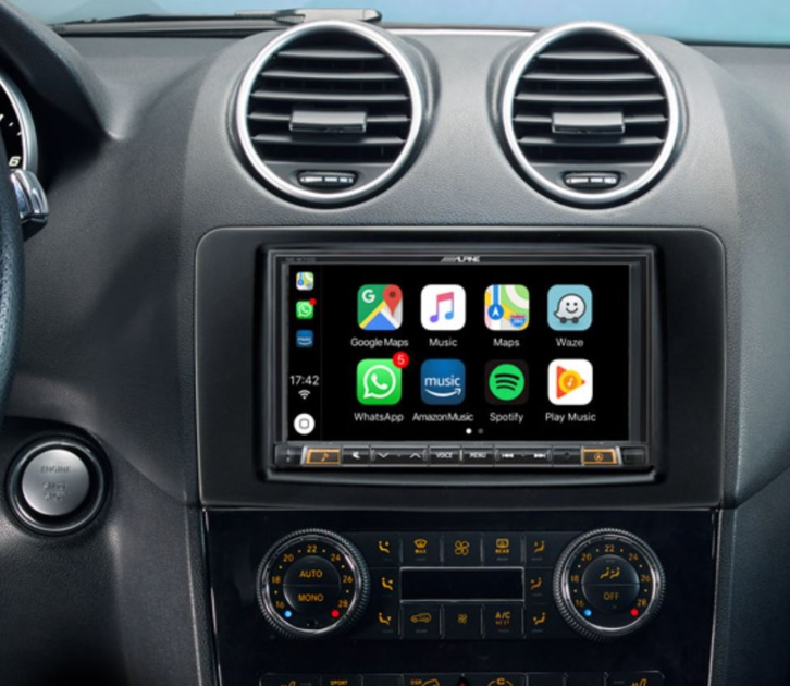 Alpine Style pour Mercedes ML - GPS, Apple Carplay et Android Auto - INE-W720ML