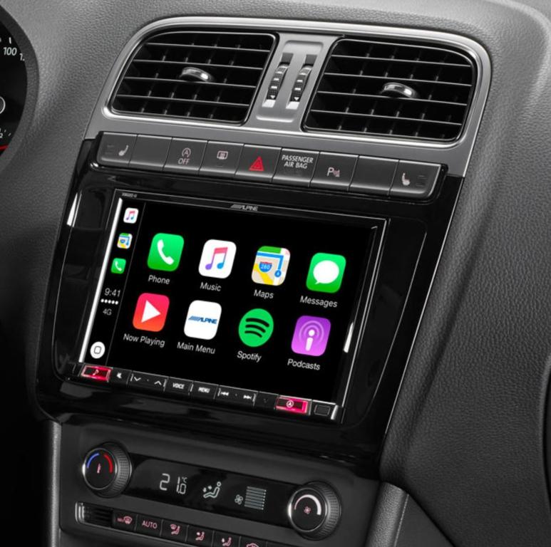 X803D-P6C GPS Alpine Style pour Volkswagen Polo 5 - écran tactile, GPS, Apple Carplay et Android Auto