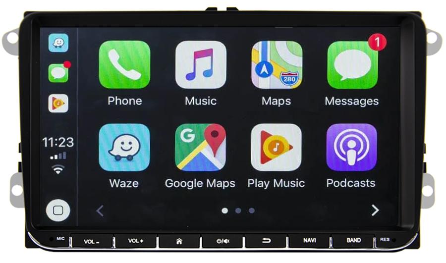 Ecran tactile Android 10.0 + Apple Carplay en option Volkswagen Amarok Coccinelle Sharan Transporter Polo Caddy Eos Golf Scirocco Passat Tiguan et Touran