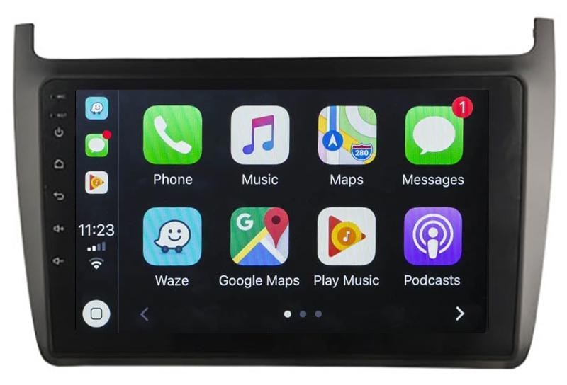 Ecran tactile Android 10.0 + Apple Carplay sans fil Volkswagen Polo de 2012 à 2017