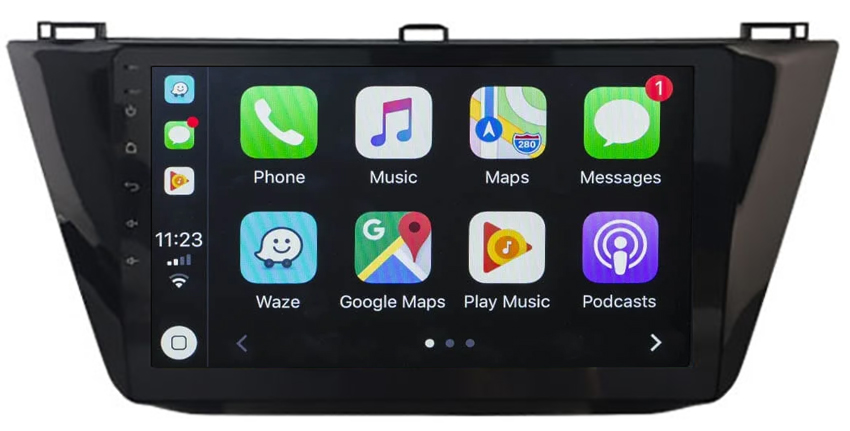 Ecran tactile QLED Android 10.0 + Apple Carplay sans fil Volkswagen Tiguan depuis 2017