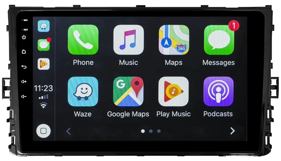 Ecran tactile Android 10.0 + Apple Carplay via USB Volkswagen Polo Golf Passat Tiguan T-Roc T-Cross et Arteon depuis 2017