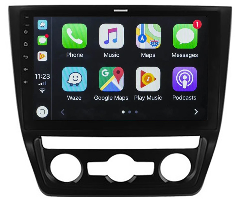 Ecran tactile QLED Android 10.0 + Apple Carplay sans fil Skoda Yeti de 2009 à 2017