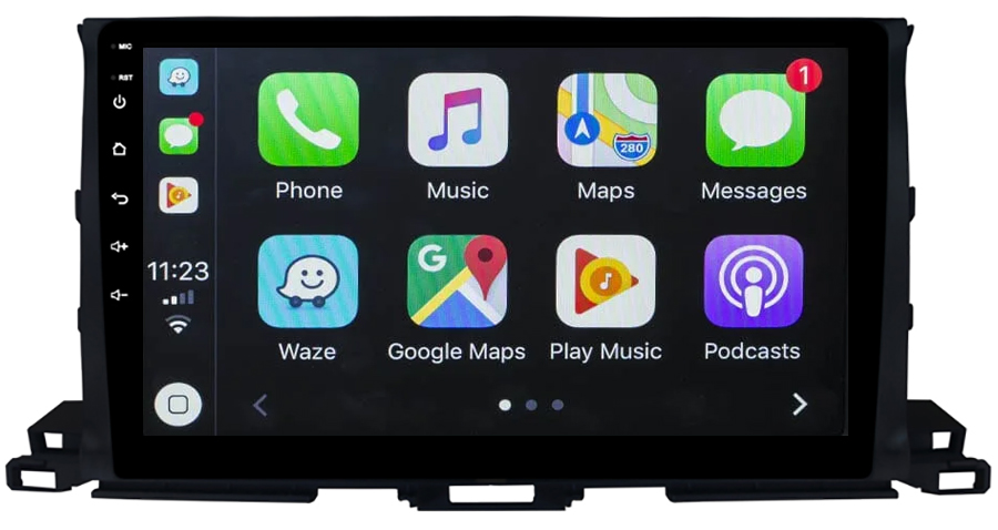 Ecran tactile Android 10.0 + Apple Carplay sans fil Toyota Highlander depuis 2015