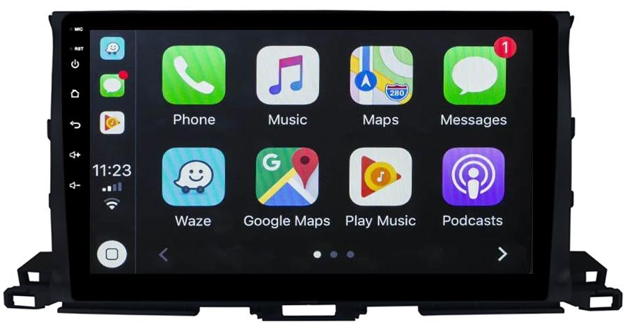 Ecran tactile QLED Android 10.0 + Apple Carplay sans fil Toyota Highlander depuis 2015