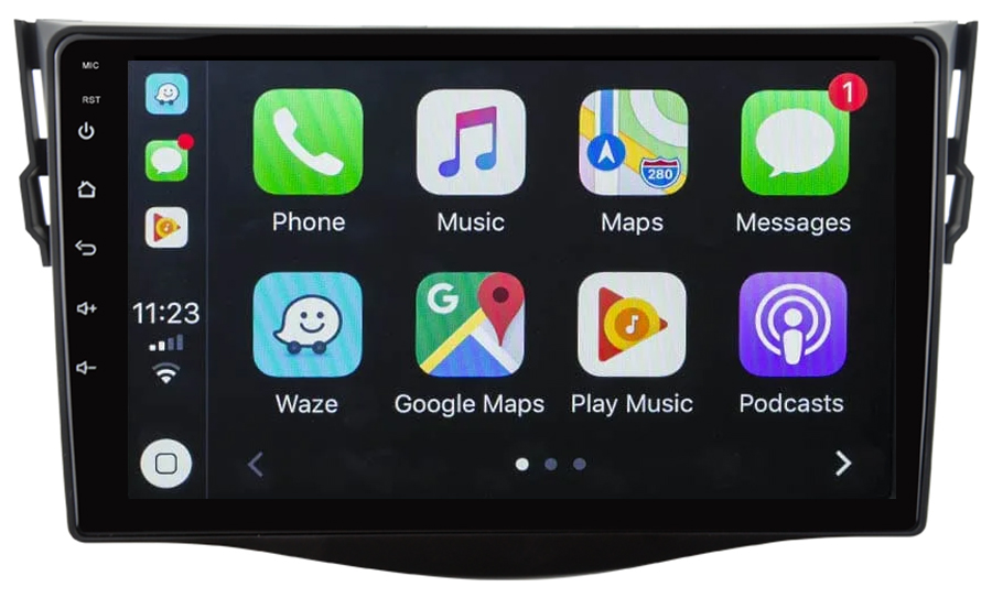 Ecran tactile Android 10.0 + Apple Carplay sans fil Toyota RAV4 de 2006 à 2012