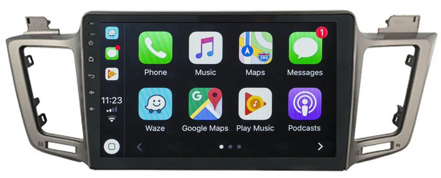 Ecran tactile Android 10.0 + Apple Carplay sans fil Toyota RAV4 de 2013 à 2018