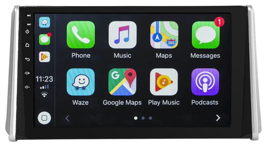 Ecran tactile QLED Android 10.0 + Apple Carplay sans fil Toyota RAV4 depuis 2019