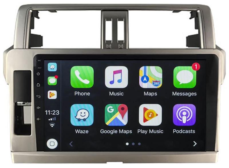 Ecran tactile QLED Android 10.0 + Apple Carplay sans fil Toyota Land Cruiser 150 de 2010 à 2017