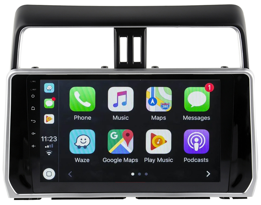 Ecran tactile Android 10.0 + Apple Carplay sans fil Toyota Land Cruiser depuis 2018