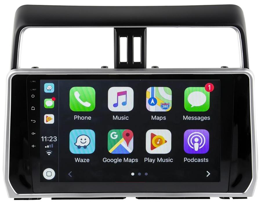 Ecran tactile QLED Android 10.0 + Apple Carplay sans fil Toyota Land Cruiser depuis 2018