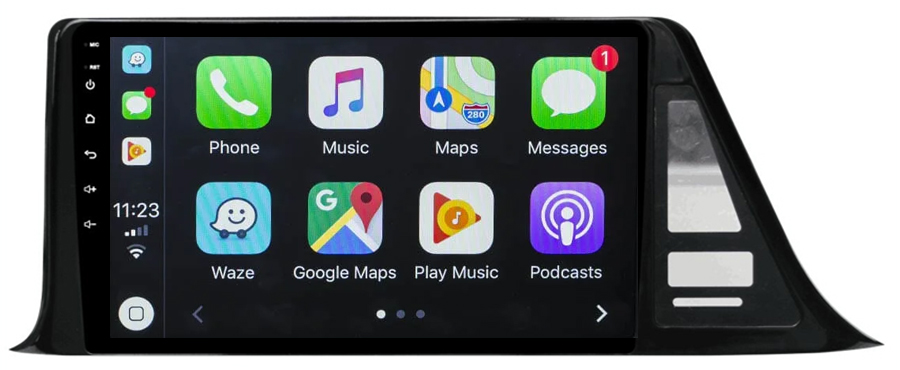Ecran tactile Android 10.0 + Apple Carplay sans fil Toyota C-HR de 2016 à 2020
