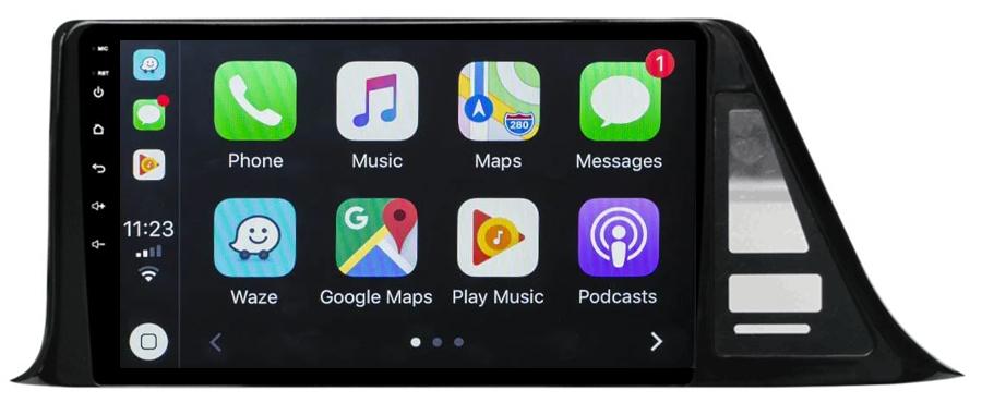 Ecran tactile QLED Android 10.0 + Apple Carplay sans fil Toyota C-HR de 2016 à 2020