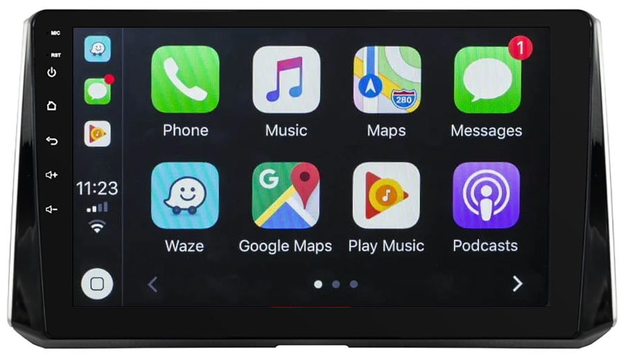 Ecran tactile QLED Android 10.0 + Apple Carplay sans fil Toyota Auris, Corolla depuis 2018