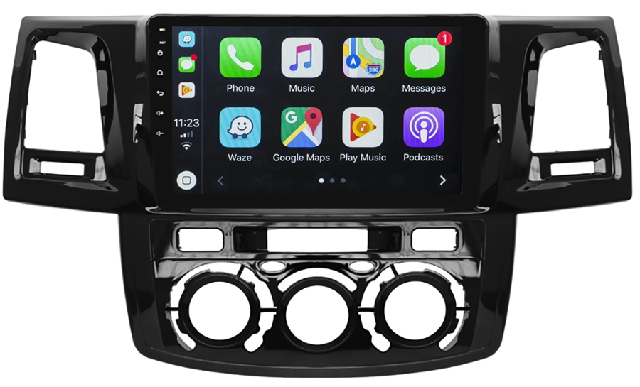 Ecran tactile Android 10.0 + Apple Carplay sans fil Toyota Hilux de 2012 à 2015