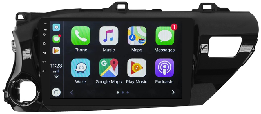 Ecran tactile Android 10.0 + Apple Carplay sans fil Toyota Hilux depuis 2015