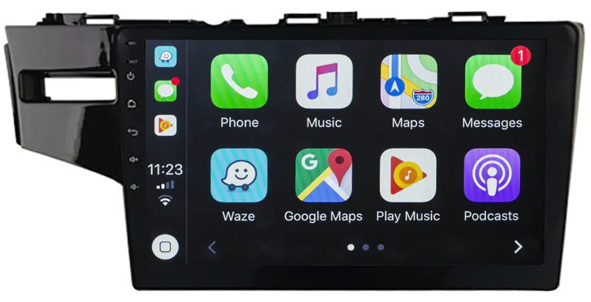 Ecran tactile Android 10.0 + Apple Carplay sans fil Honda Jazz de 2014 à 2020