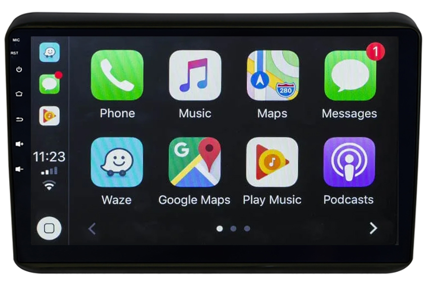 Ecran tactile QLED Android 10.0 + Apple Carplay sans fil Honda HRV de 2015 à 2018