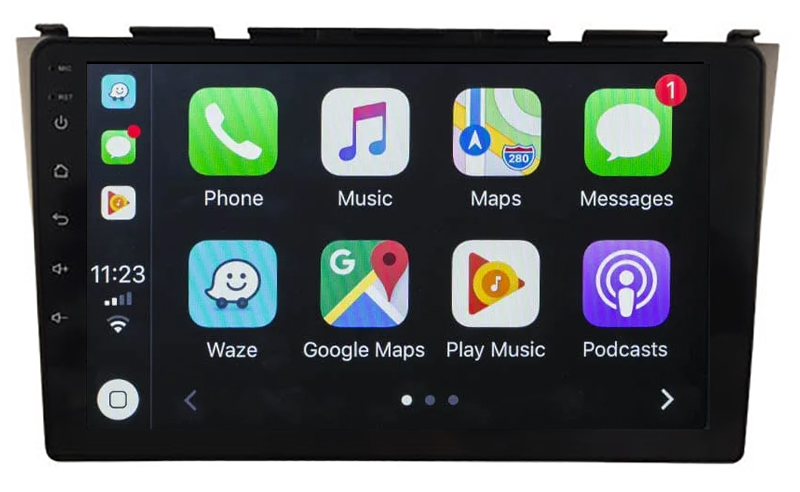 Ecran tactile QLED Android 10.0 + Apple Carplay sans fil Honda CR-V de 2006 à 10/2012