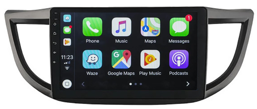 Ecran tactile QLED Android 10.0 + Apple Carplay sans fil Honda CR-V de 2012 à 2016