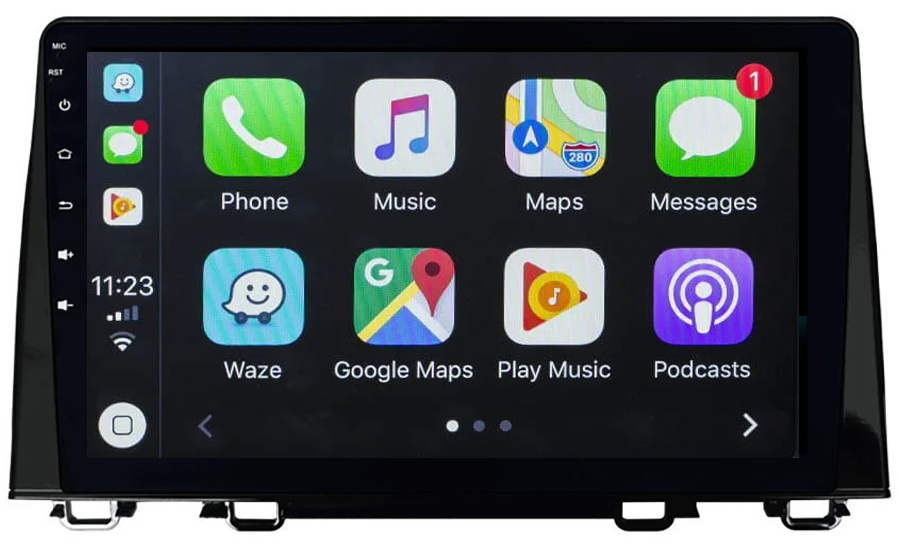 Ecran tactile QLED Android 10.0 + Apple Carplay sans fil Honda CR-V depuis 2017