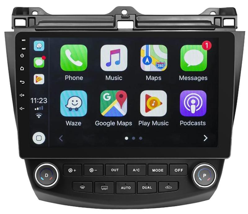 Ecran tactile Android 10.0 + Apple Carplay via USB Honda Accord de 2002 à 2008
