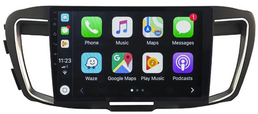 Ecran tactile Android 10.0 + Apple Carplay via USB Honda Accord de 2013 à 2019