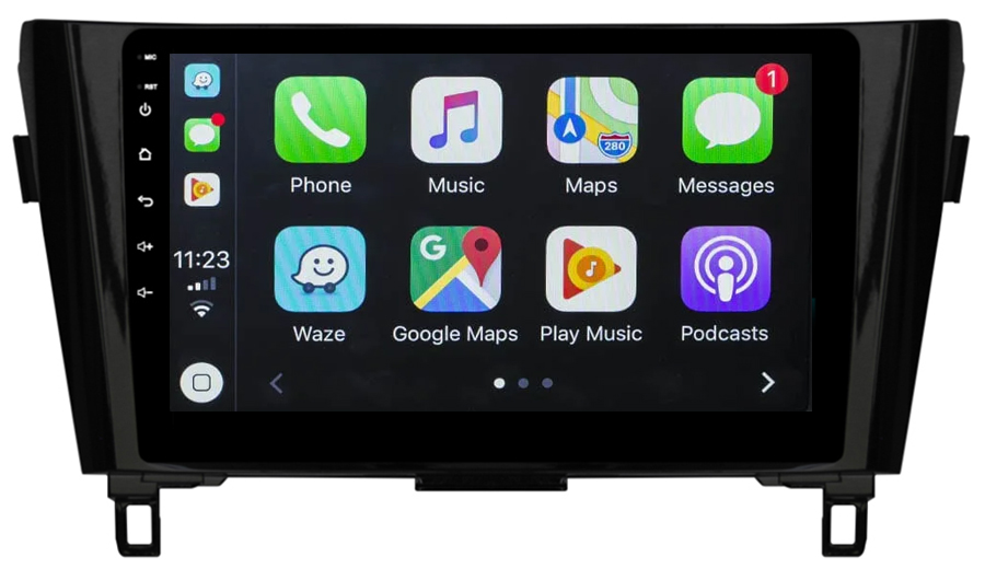 Ecran tactile Android 10.0 + Apple Carplay sans fil Nissan Qashqai et X-Trail de 2014 à 2020