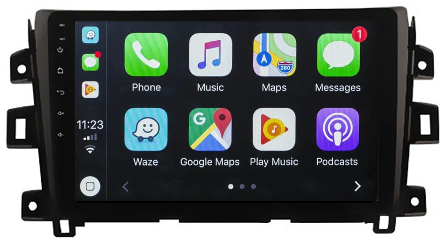 Ecran tactile QLED Android 10.0 + Apple Carplay sans fil Nissan Navara NP300 depuis 2015