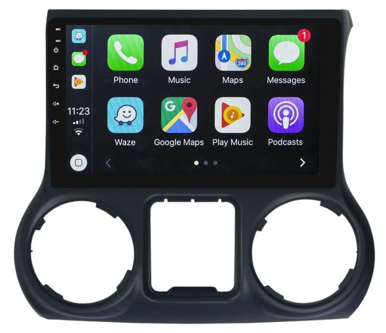 Ecran tactile Android 10.0 + Apple Carplay via USB Jeep Wrangler de 2011 à 2018