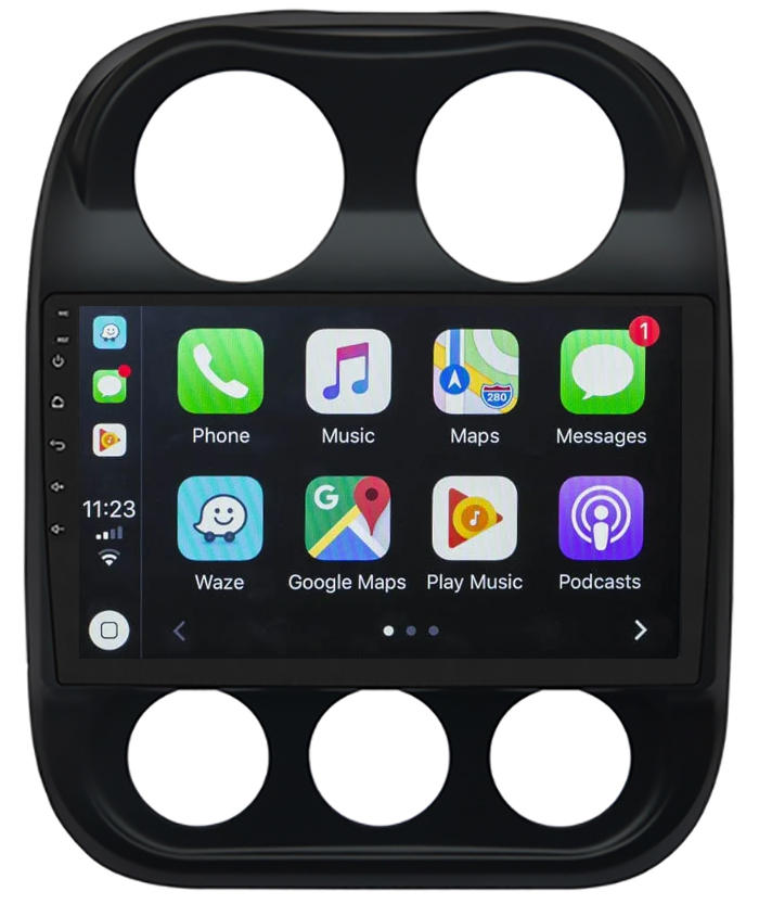 Ecran tactile QLED Android 10.0 + Apple Carplay sans fil Jeep Compass et Patriot