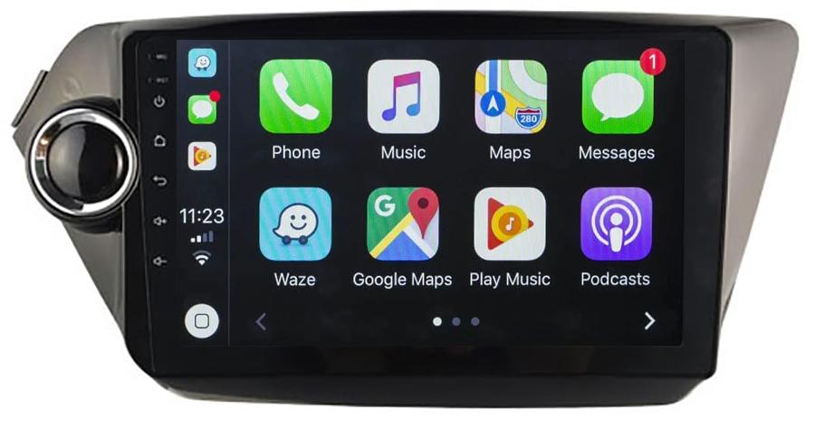 Ecran tactile QLED Android 10.0 + Apple Carplay sans fil Kia Rio de 2012 à 2015