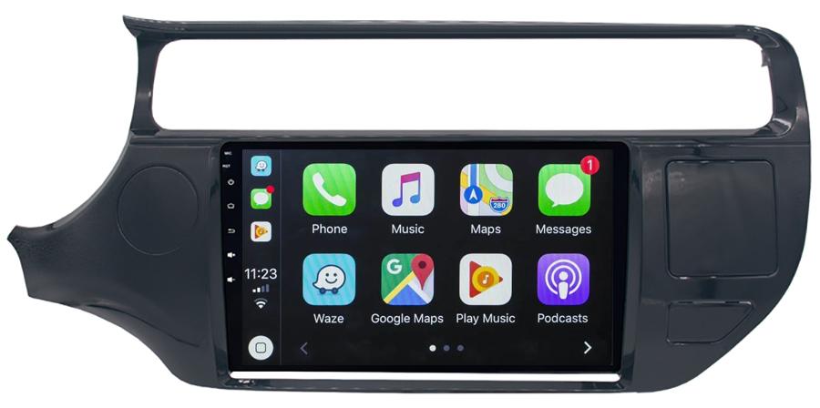 Ecran tactile QLED Android 10.0 + Apple Carplay sans fil Kia Rio de 2015 à 2017