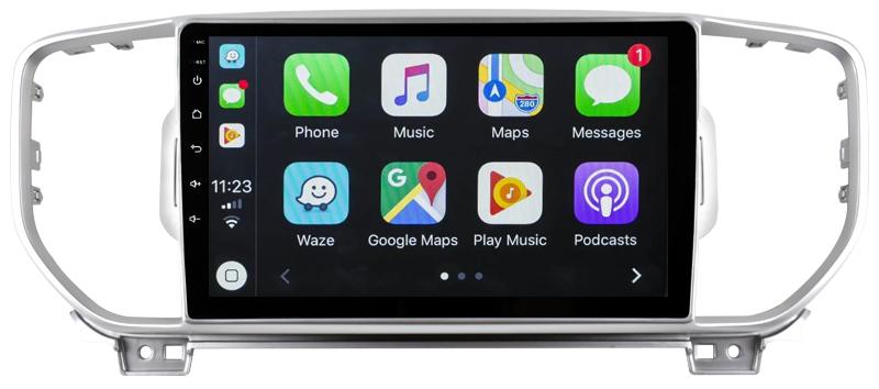 Ecran tactile Android 10.0 + Apple Carplay via USB Kia Sportage depuis 2016