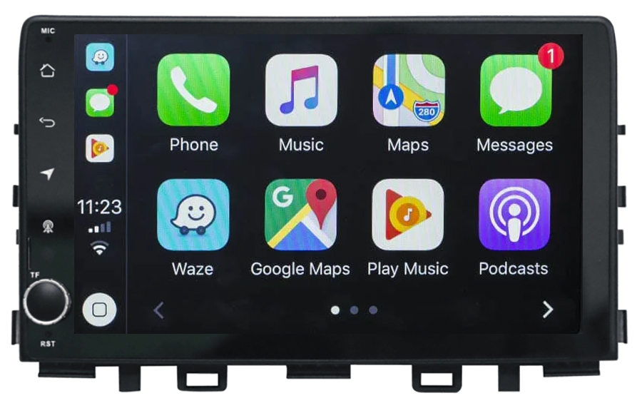 Ecran tactile Android 10.0 + Apple Carplay via USB Kia Rio et Kia Stonic depuis 2017