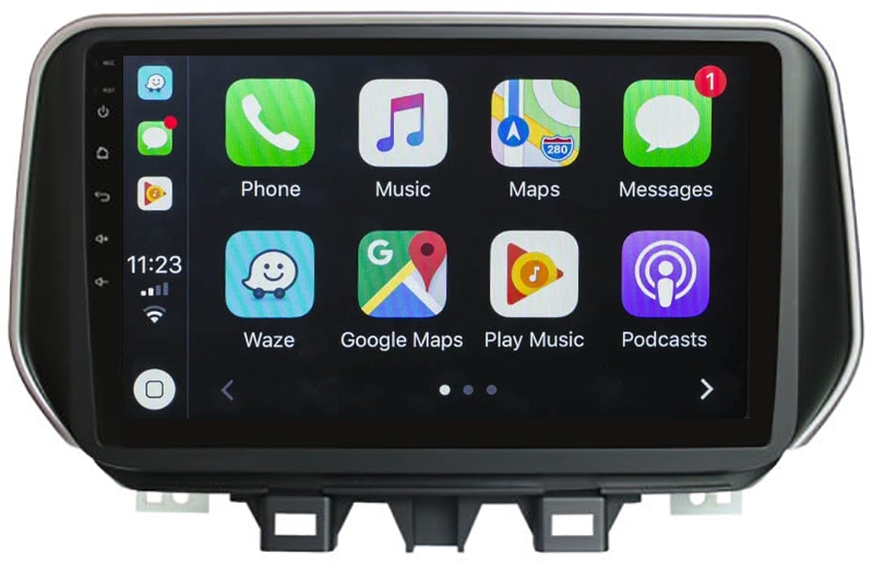 Ecran tactile Android 10.0 + Apple Carplay via USB Hyundai Tucson depuis 2018