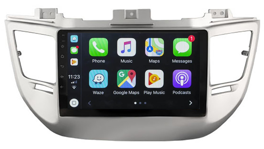 Ecran tactile Android 10.0 + Apple Carplay sans fil Hyundai Tucson de 2015 à 2018