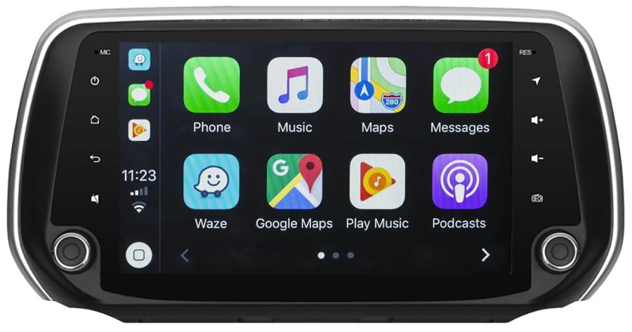 Ecran tactile Android 10.0 + Apple Carplay sans fil Hyundai Santa Fe depuis 2018