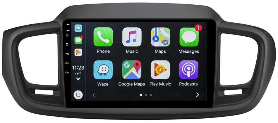 Ecran tactile Android 10.0 + Apple Carplay via USB Kia Sorento de 2015 à 2018