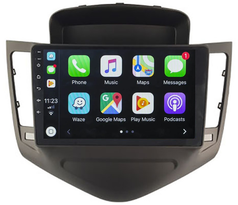 Ecran tactile Android 10.0 + Apple Carplay sans fil Chevrolet Cruze de 2009 à 2012