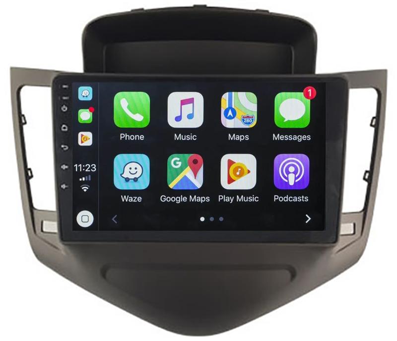 Ecran tactile QLED Android 10.0 + Apple Carplay sans fil Chevrolet Cruze de 2009 à 2012