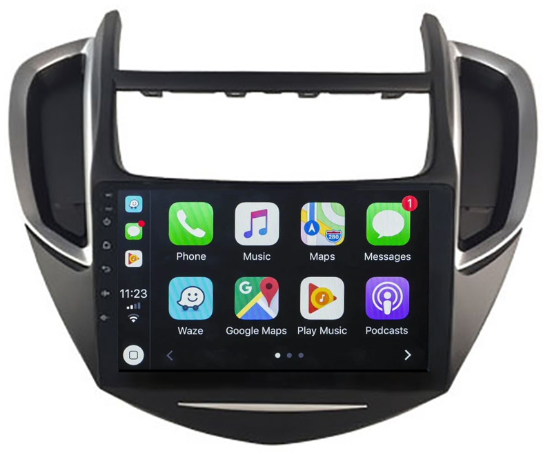 Ecran tactile QLED Android 10.0 + Apple Carplay sans fil Chevrolet Trax de 2013 à 2017