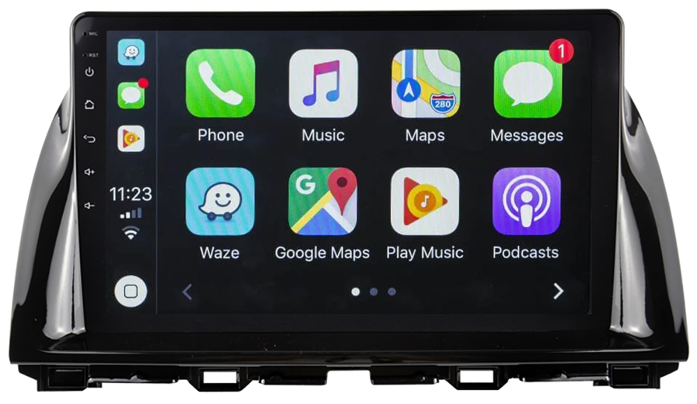 Ecran tactile QLED Android 10.0 + Apple Carplay sans fil Mazda CX-5 et Mazda 6