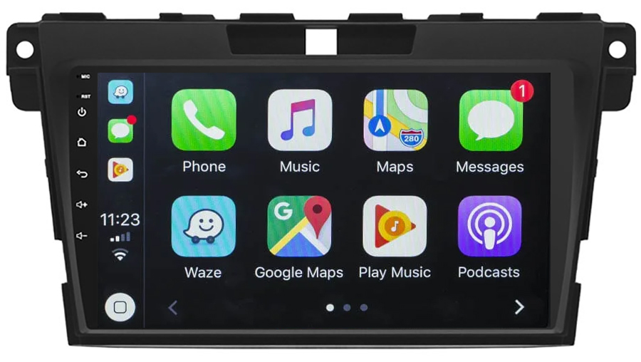 Ecran tactile QLED Android 10.0 + Apple Carplay sans fil Mazda CX-7 de 2007 à 2012