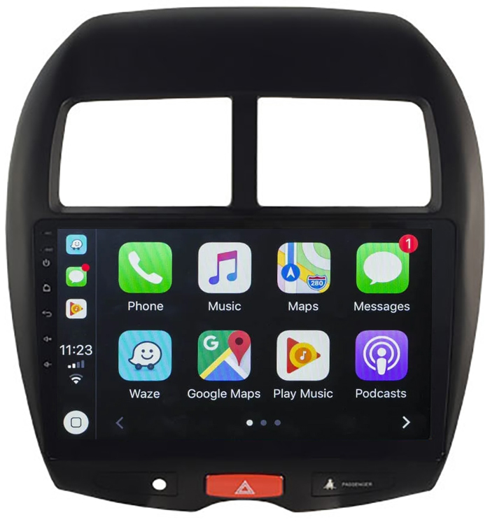 Ecran tactile Android 10.0 + Apple Carplay sans fil Mitsubishi ASX de 2010 à 2019