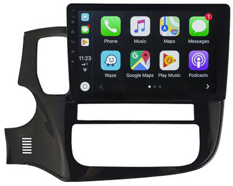Ecran tactile QLED Android 10.0 + Apple Carplay sans fil Mitsubishi Outlander de 2013 à 2020