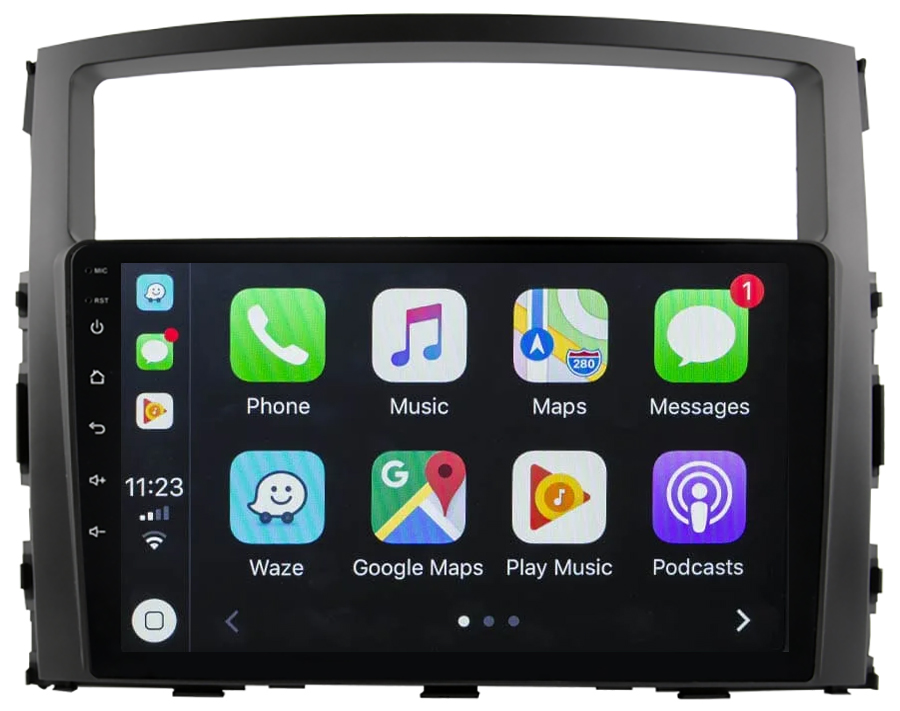 Ecran tactile Android 10.0 + Apple Carplay sans fil Mitsubishi Pajero de 2006 à 2014