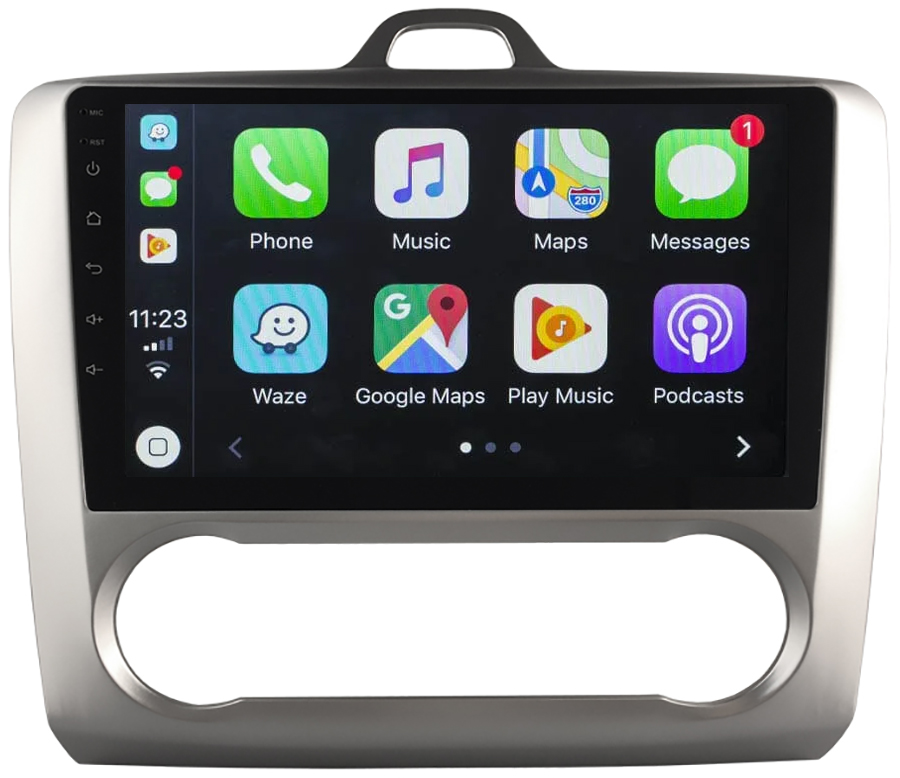 Ecran tactile Android 10.0 + Apple Carplay sans fil Ford Focus de 2004 à 2010